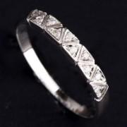 Anel de Ouro Branco com 10 Diamante de 1 Ponto