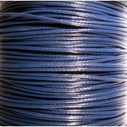 Vaxad bomullstråd - Mörkblå 1mm, 1 rulle 100 yards