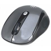 Mouse Manhattan Óptico Alto Rendimiento, Inalámbrico, USB, 2000DPI, Negro/Plata