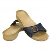 【セール実施中】【送料無料】クロックス サラ サンダル ウィメン Women's Crocs Sarah Sandal 203054 490 Navy/Gold
