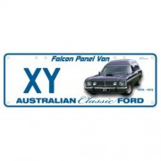 """Novelty Number Plate - Ford XY Falcon Panel Van Sm"""
