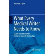 What Every Medical Writer Needs to Know 2015 by Robert B. Taylor