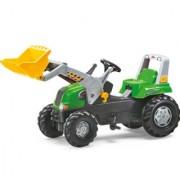 Traktor na pedale Junior RT sa utovarivačem zeleni
