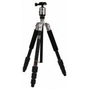 Rollei Fotopro C4-i stand 53P cu cap bilă + geantă căptușită (gri titan)