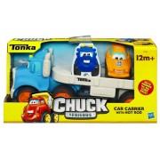 Playskool 19753 Las aventuras de Chuck y sus amigos - Camión portacoches, color azul