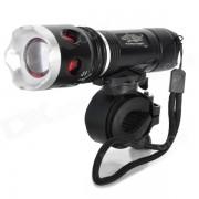L12 200lm 3 Modos Blanca zoom Bike Light - Negro (3 * AAA)
