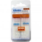 Idento Stick & Brush 120 st Tandtråd