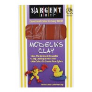 Sargent Art 22-4030 1-Pound Solid Color Modeling Clay, Terra Cotta
