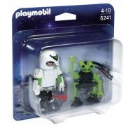 PLAYMOBIL Duo Space Pack Man with Spy Robot Playset