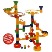 Deluxe Large 53pc Marble Run Kids Toy Play Fun Multicolor (SI-TY1040) by Lado