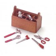 Dollhouse Miniature Tool Box with Tools