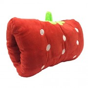 Happy Walk 12 colores Cartoon Plush animal de peluche cálido manos almohada cojín rojo Strawberry