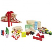Childcraft Town And Country Train Set With Bridge And Accessories Set Of 50
