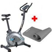 Sobni bicikl Xplorer Lotus + Podloga za vežbanje X-plorer siva