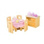 Esszimmer - Muebles de casa de muñecas de madera (surtido)