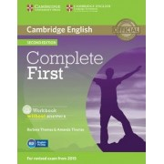 Complete First Workbook without Answers with Audio CD by Barbara Thomas