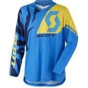 Scott 350-Race-Junior-Jersey-0005 Niebieski/żółty