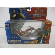 Orange County Choppers American Chopper Fire Bike In Red Diecast 1:18 Scale By Joyride