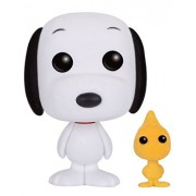 Funko - Figurine Snoopy Peanuts - Snoopy et Woodstock Flocked Exclu Pop 10cm - 0849803080464