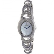 Seiko Silver Metal Round Dial Analog Watch For Women (SUP295P1)