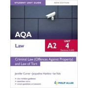 AQA A2 Law Student Unit Guide New Edition: Unit 4 (Sections A & B) Criminal Law (Offences Against Property) and Law of Tort by Ian Yule