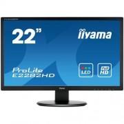 Monitor iiyama E2282HD-B1, 22'', LCD, 5ms, 250cd/m2, FullHD, 1000:1 (12M:1 ACR), VGA, DVI, čierny
