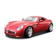 BBurago 18-11021 - Diamante Collezione 1:18 Alfa Romeo 8C Competizione 2007 rojo