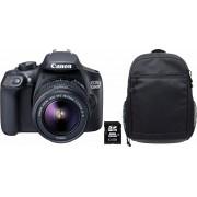 EOS 1300D 18-55 IS zwart + rugzak CB-BP100 + 8 GB SD-kaart Class 10