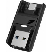 USB Flash Drive Leef Bridge Dual OTG 32GB USB 3.0 Negru