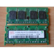 Hynix - Mémoire - 512 Mo - So Dimm - DDR2 - PC5300 - 555 mhz - Ref: HYMP564S64CP6-Y5 AB