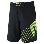 Musclepharm Men's 421 Woven Shorts - Black/Lime Green, Medium