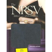 The New Revised Standard Version Bible with Apocrypha: Genuine Leather Black by NRSV Bible Translation Committee
