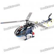 4F200LM Tri-Blade 2.4GHz 6-Channel R / C Helicoptero con giroscopio de tres ejes - Negro + Azul