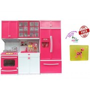Param 3 Compartments Modern Kitchen Toy Set with Music and Lights + Free Happy Baby Luxurious Kids Soap With Toy Rs.299