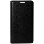 Dashmesh Shopping for Lava A76, Premium Durable Leather Flip Cover Case For Lava A76 - Black