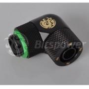 Fiting compresie rotativ 90 grade alama Bitspower G1/4 la 11/8mm, Matte Black