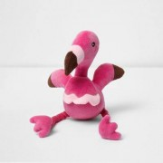 River Island Womens Pink RI Dog squeaky flamingo toy