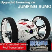Babrit 2.4G RC Control Jump Car WIFI Jumping Sumo Bounce Car with 2M HD Camera-Updated Version