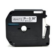 Brother MK-221, 9mm x 8m, černý tisk / bílý podklad kompatibilní