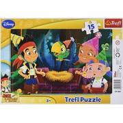 Trefl - Puzzle Ramkowe, Jake Never Land Pirates 15