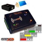 Terminale controller RFID, 2 relays pilotabile tramite USB, perfetto per palestre, centri benessere, club, aziendeinclude software di gestione accessi