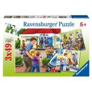"""Ravensburger 09424 - 3 puzzle """"La clinica degli animali"""", 49 pezzi"""