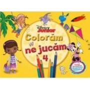 Disney Junior - Coloram si ne jucam 4. Planse de colorat cu activitati distractive