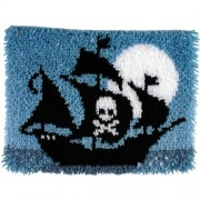 "Wonderart Latch Hook Kit 15""X20""-Pirate Ship"