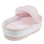 Petit Praia 80 x 36 x 23 cm Linned Carrycot Orson Rosa With Top