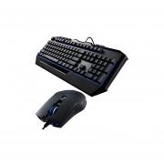 Kit Teclado Y Mouse Cooler Master Devastator II Alambrico USB Gamer Led Azul SGB-3030-KKMF1-Negro