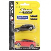 RMZ Die Cast Panamera And Range Rover Evoque Red And Black