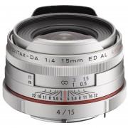 Pentax K-Mount HD DA 15mm F/4 ED AL Fixed Lens For Pentax KAF Cameras ( Limited Silver)