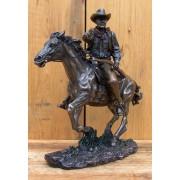 Lovas cowboy szobor