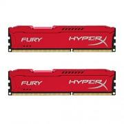 HyperX Fury Memory Red Memorie RAM, 2 x 8GB, 1866 MHz, DDR3, Set di 2 Pezzi, Rosso